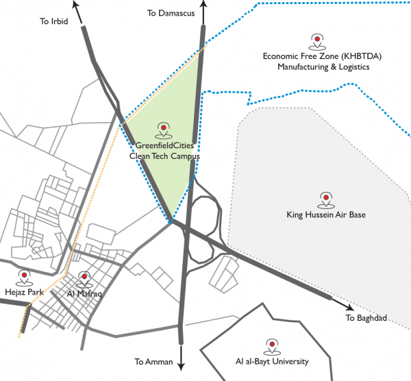 Location of GreenfieldCities Campus