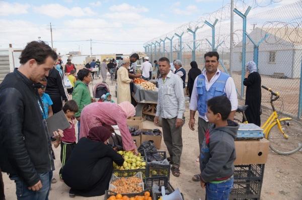 Zaatari groentemarkt